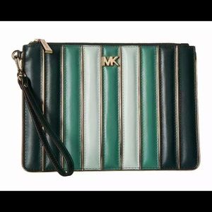 MICHAEL KORS Quilted Leather Tricolor Wristlet